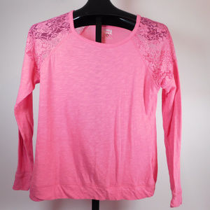 Lei Junior's Pink Lacy Shirt XXl CL2040 1019